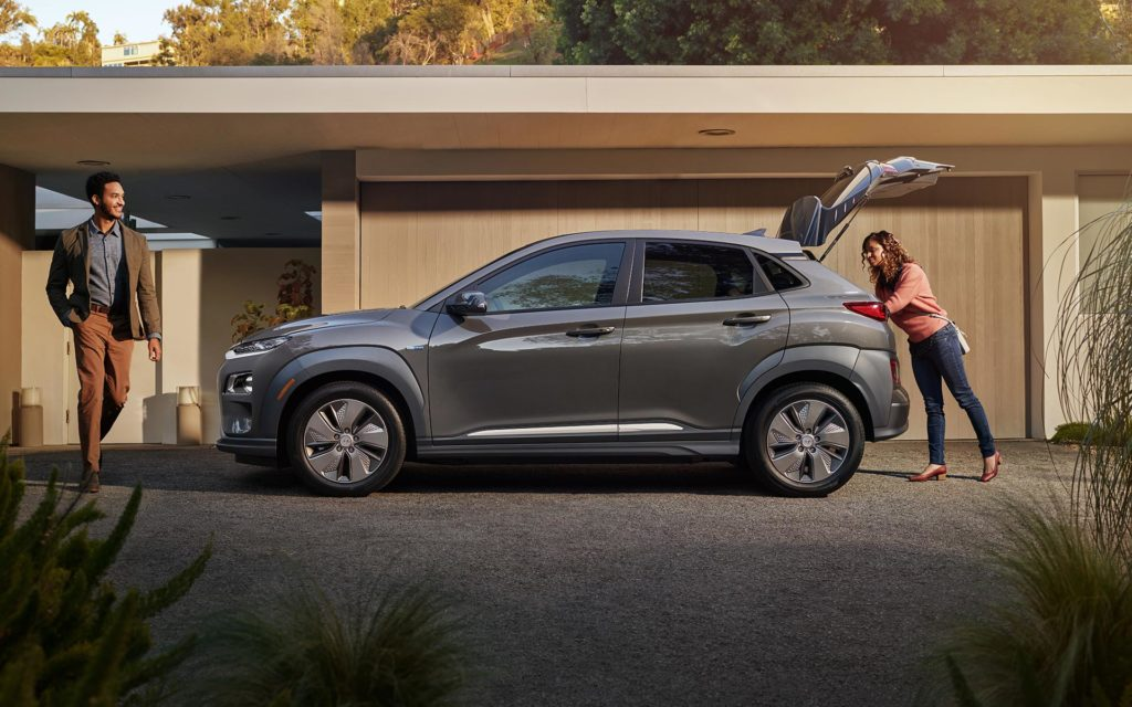 2019 Hyundai Kona Electric Home Side View - Trunk Open