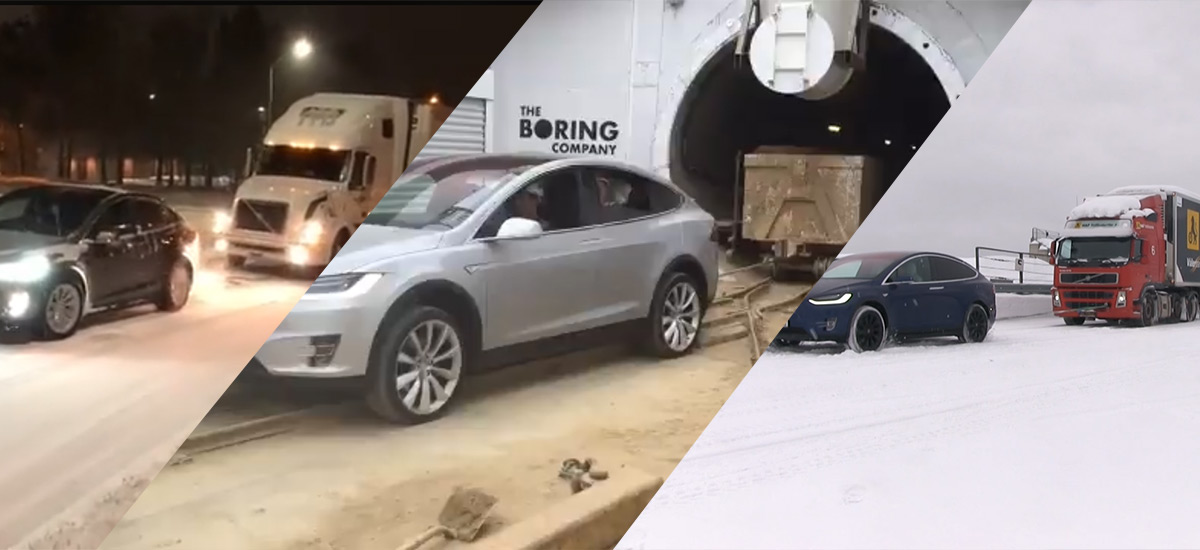 Tesla Model X Towing Power Demonstrations