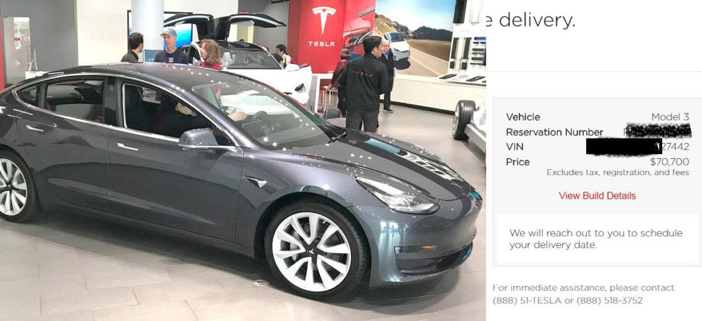 Tesla Model 3 Canada VINs