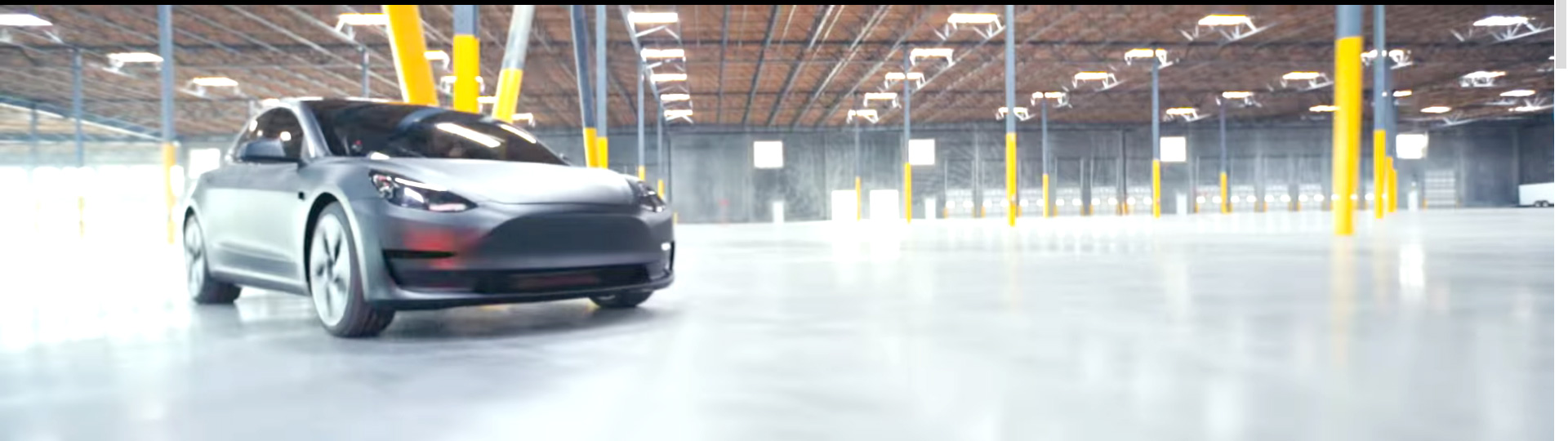 Matte Gray Tesla Model 3 in Tesla 2018 video