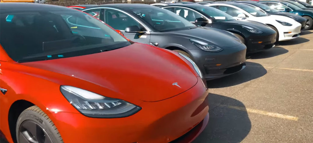 First Tesla Model 3s arrive in Toronto, Ontario, Canada