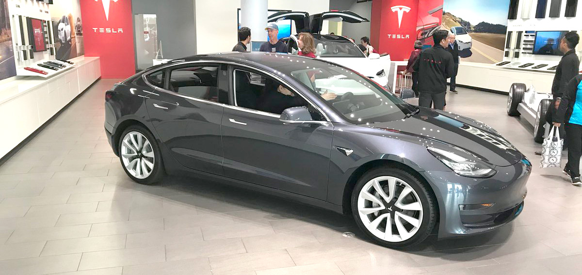 Tesla Model 3s start appearing at all Canadian showrooms