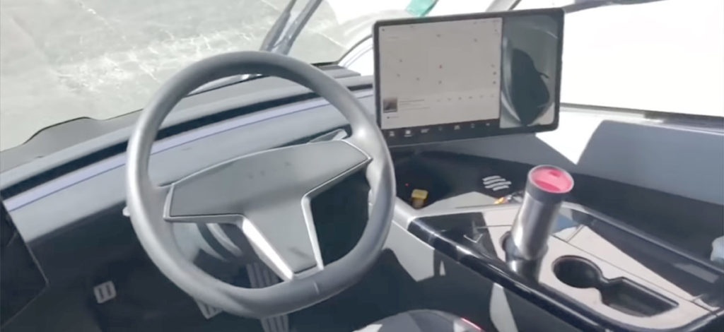 Tesla Semi Truck prototype interior first look