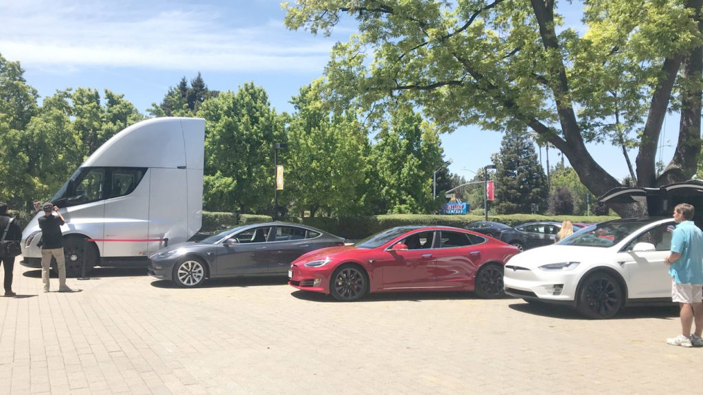 Tesla Semi Truck prototype at 2018 Tesla Shareholder Meeting