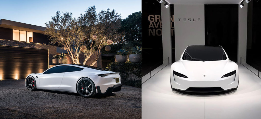 New Tesla Roadster pictures and showcase at Grand Basel
