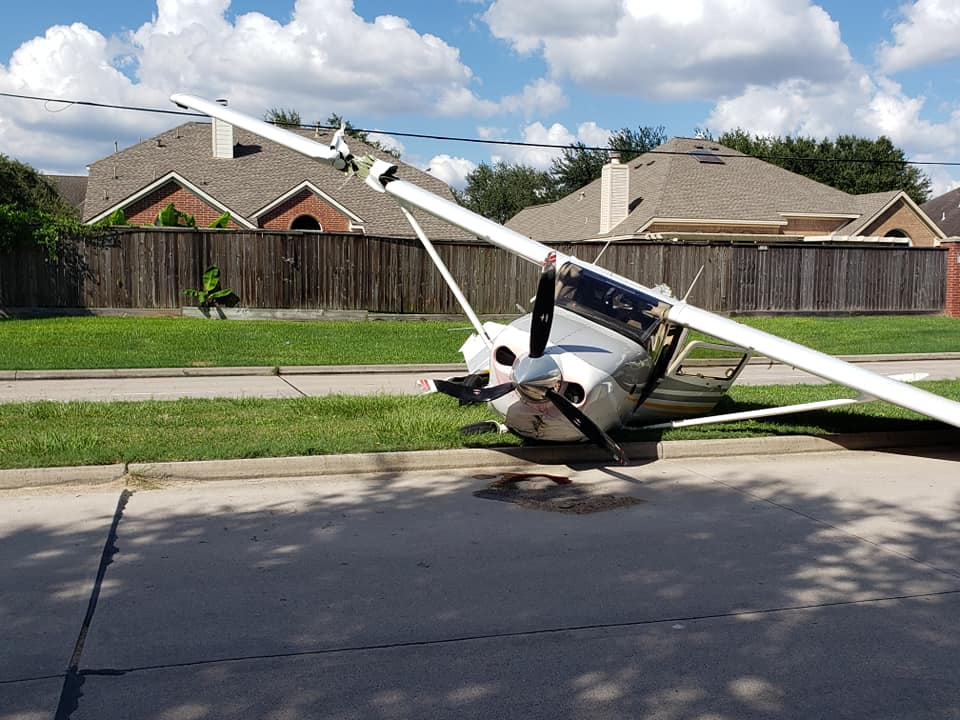 Cessna 206 after crashing in to a Tesla Model X