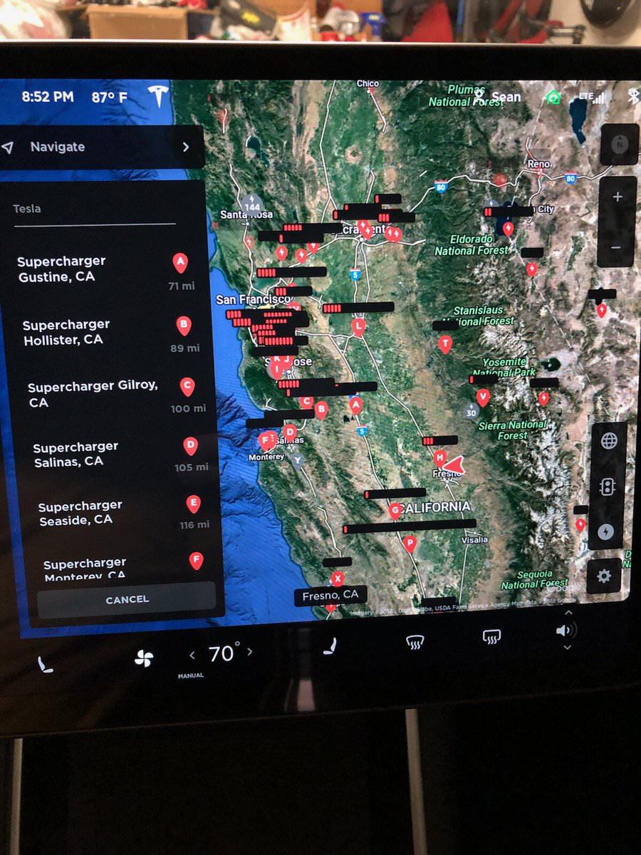 Maps and Navigation enhamcements (V9.0 Tesla Update)