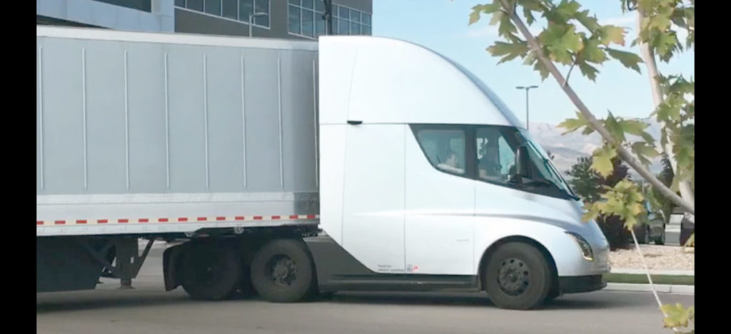 Tesla Semi sound while accelerating