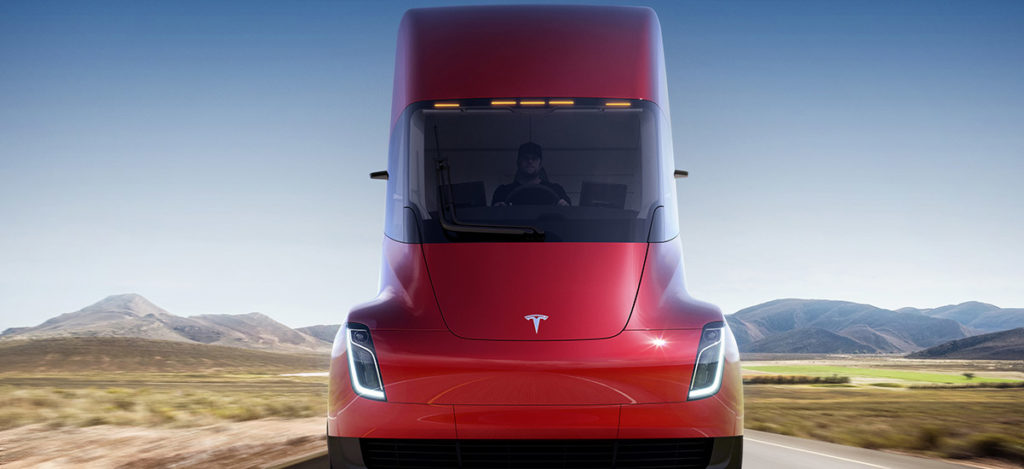 Tesla Semi Truck - Front Profile in Red