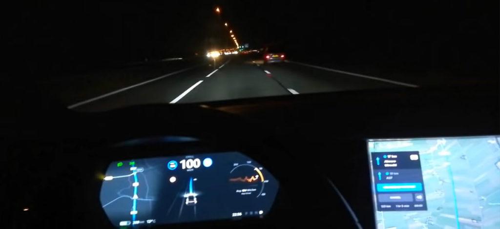 Tesla Model 3 in Mad Max Mode - Navigate on Autopilot