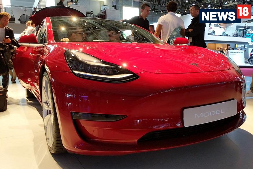 Tesla Model 3 at the 2018 Paris Motor Show - Front View