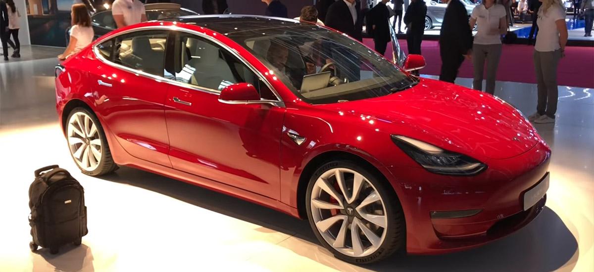 Tesla Model 3 at the 2018 Paris Motor Show