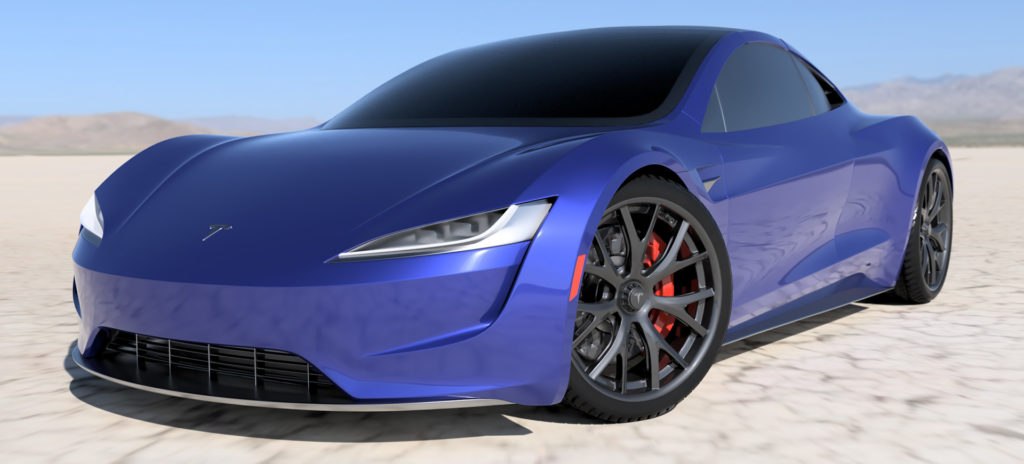 2020 Tesla Roadster Render in Blue