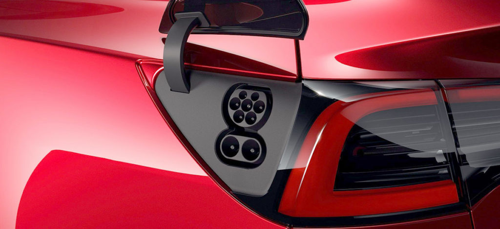 Tesla Model 3 CCS2 plug for Europe