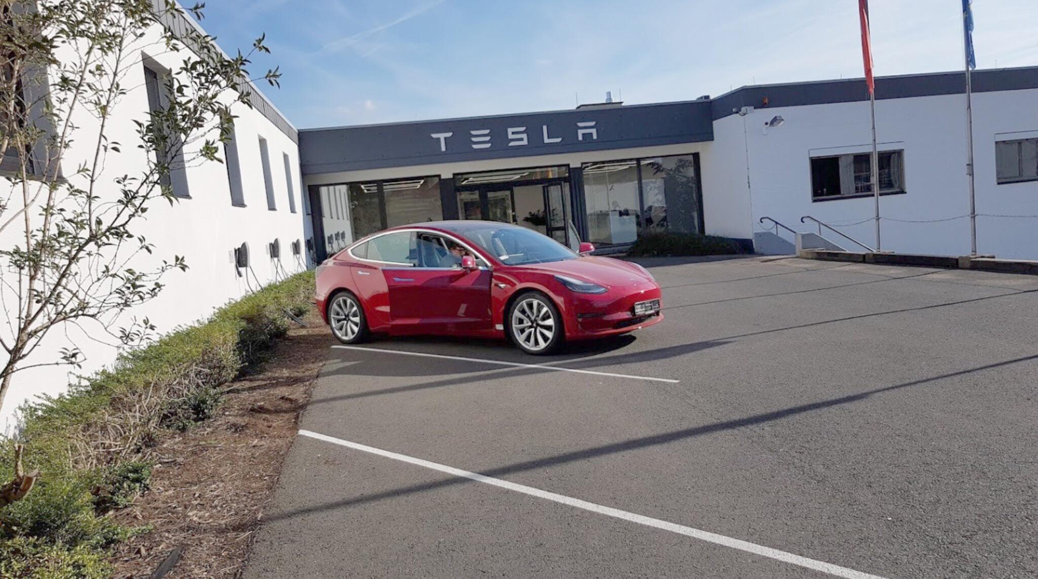 Tesla Model 3 Europe - Spotted at Tesla Grohmann, Germany