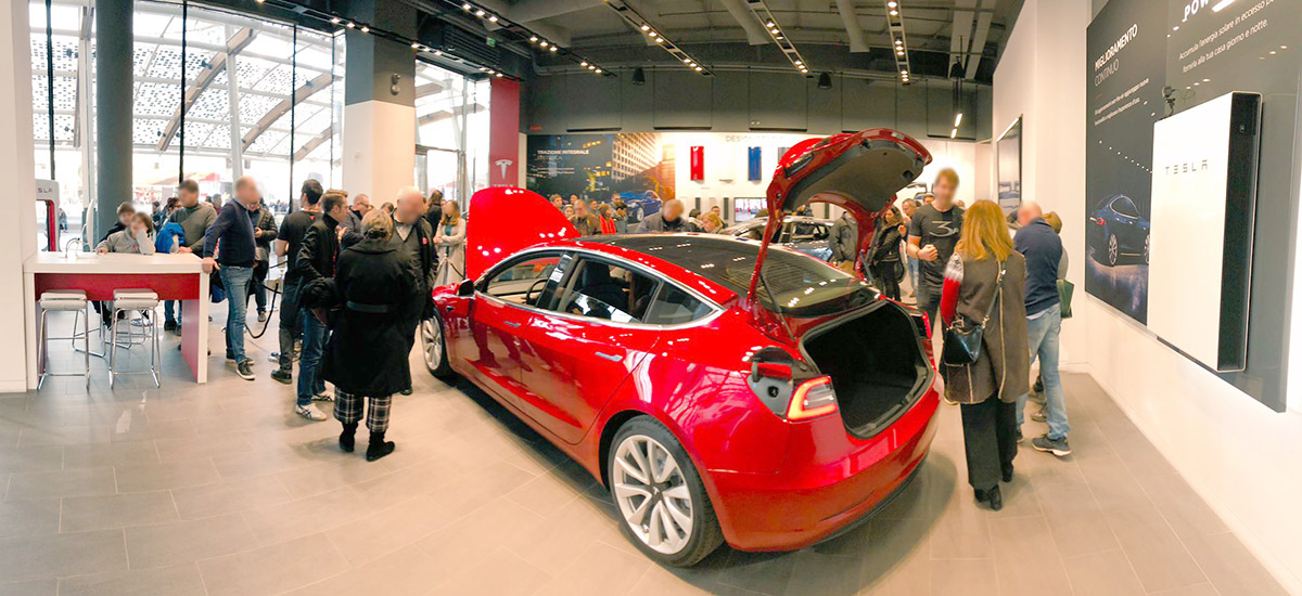 Tesla Model 3 on display for first hand experience across Europe