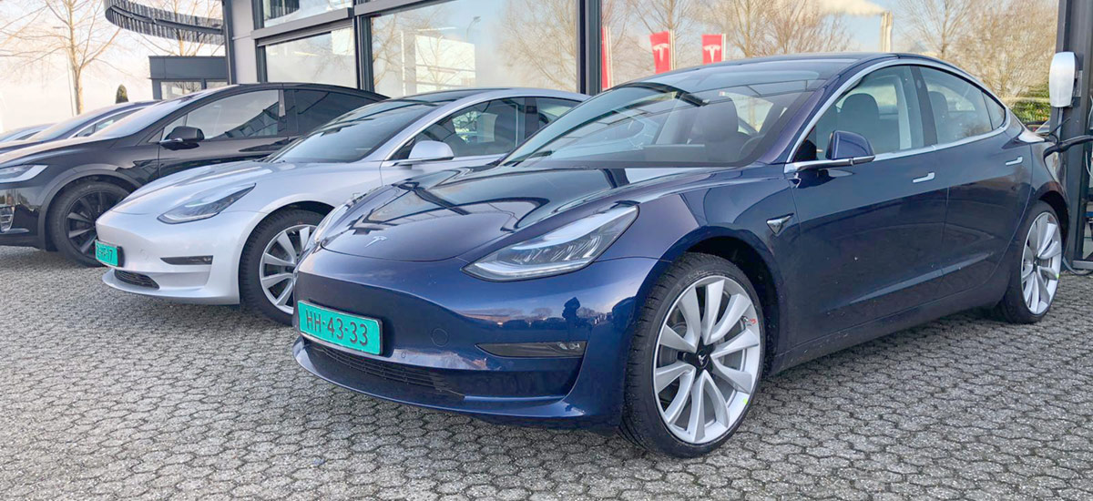 Tesla Model 3: the 3rd best selling car of Netherlands for the first half of 2019.