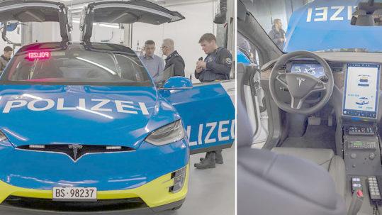 Basel City, Switzerland Police adds a Tesla Model X 100D to its fleet