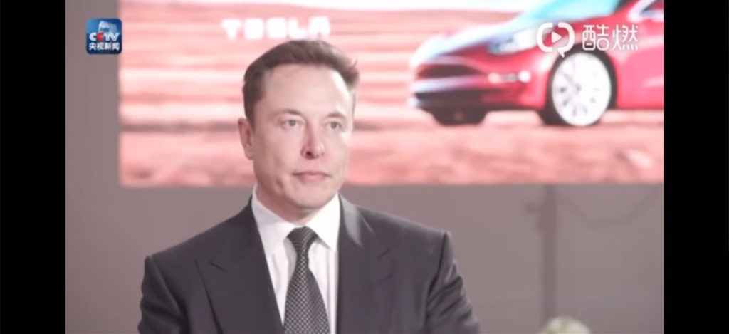 Elon Musk giving interview to Chinese media about Gigafactory 3