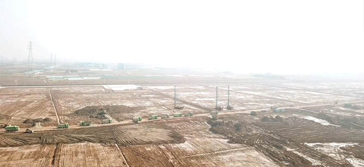Gigafactory 3 development progress as of Jan 17, 2019