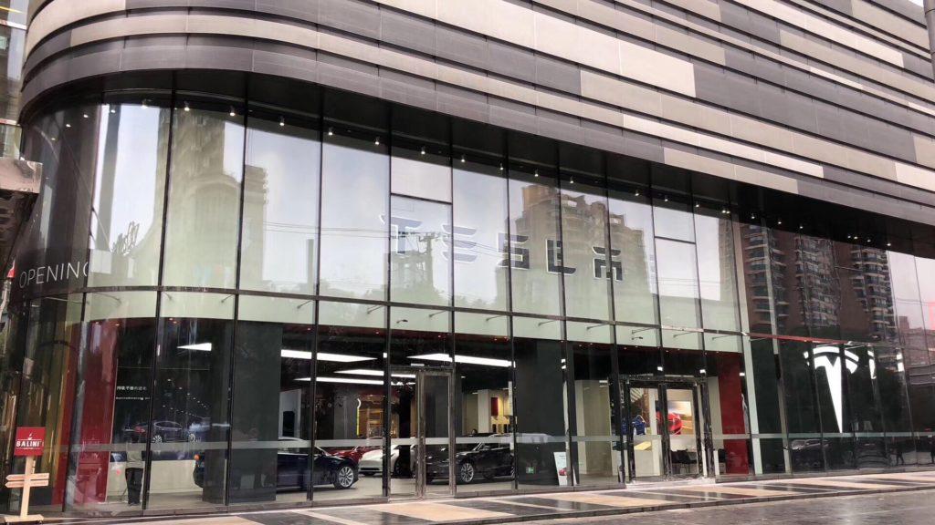 Tesla Store in Shanghai China