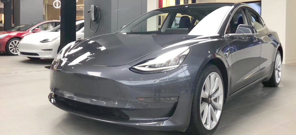 Tesla Model 3 at the Tesla Shanghai Store