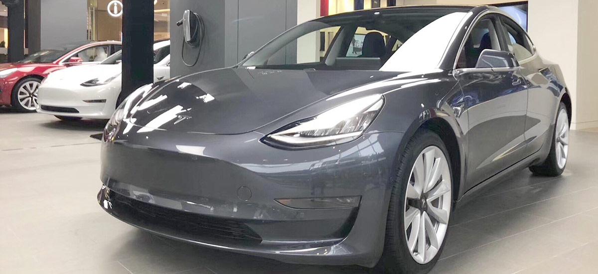 Tesla Model 3 at the Tesla Shanghai Store