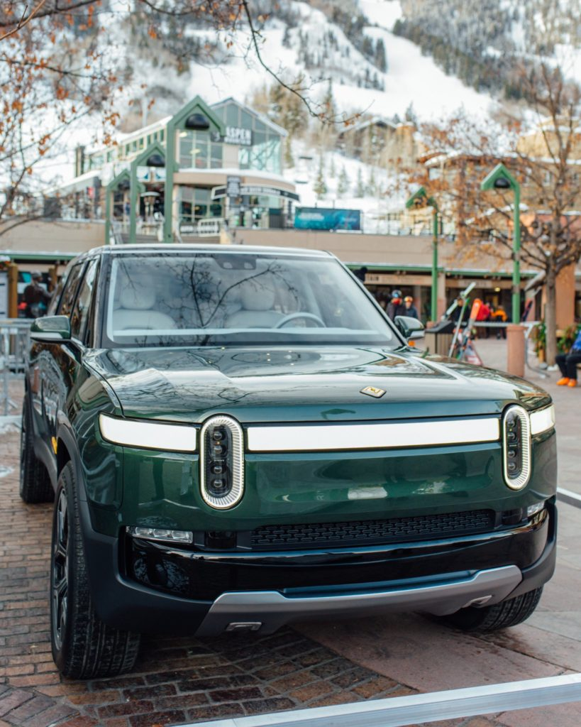 Rivian R1S SUV at the Aspen Ski Resort