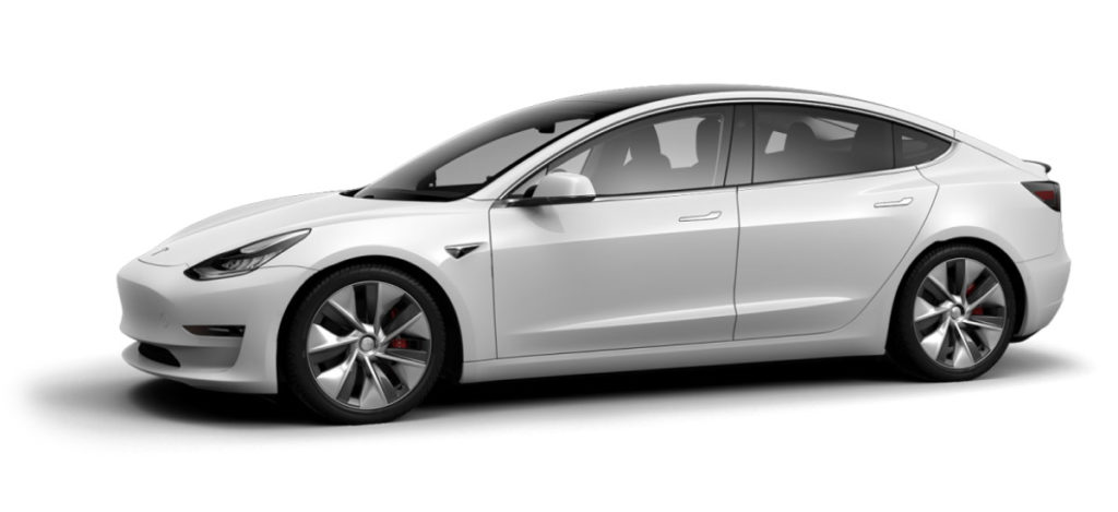 White Tesla Model 3 Configurator China and Europe