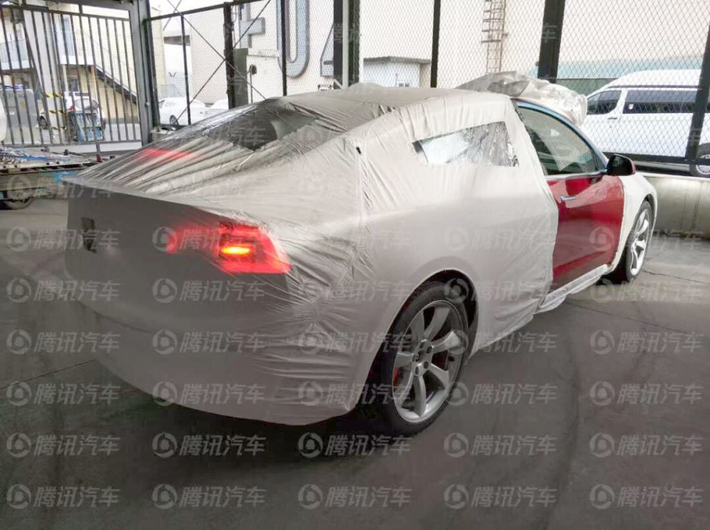 First Chinese Tesla Model 3 Performance reaches China - Rear View  Covered