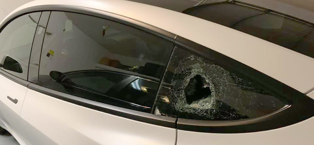 Tesla Model 3 Window Break-ins on the rise