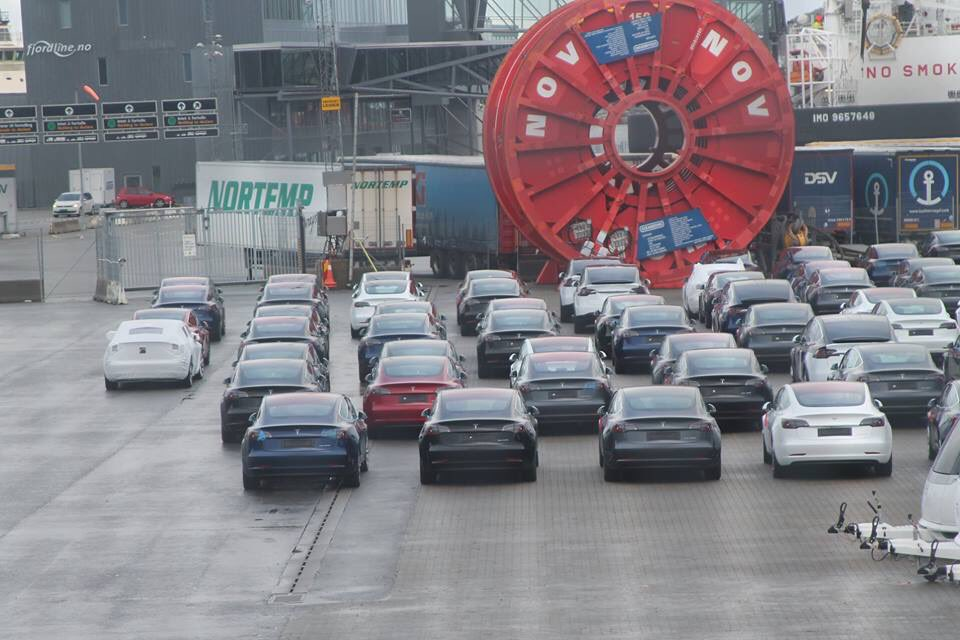 Tesla Model 3 shipment in Norway