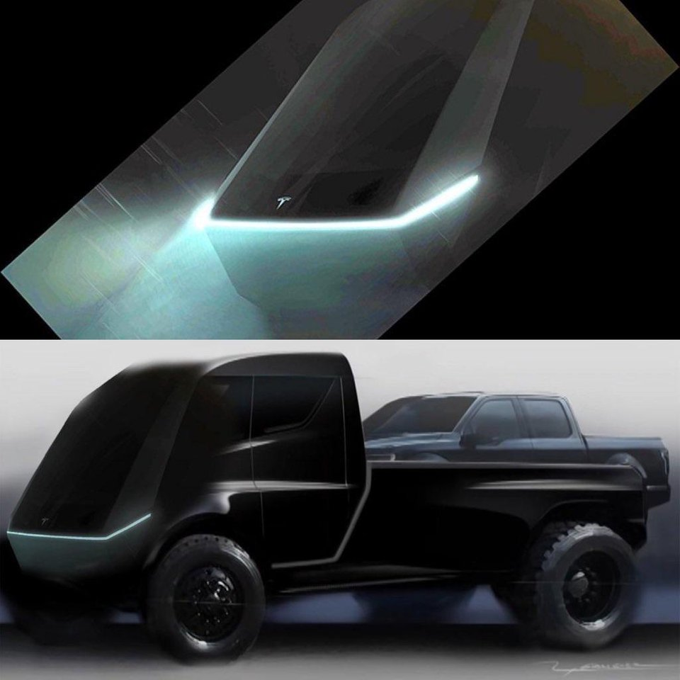Tesla Pickup truck teaser image, a guess on what it is