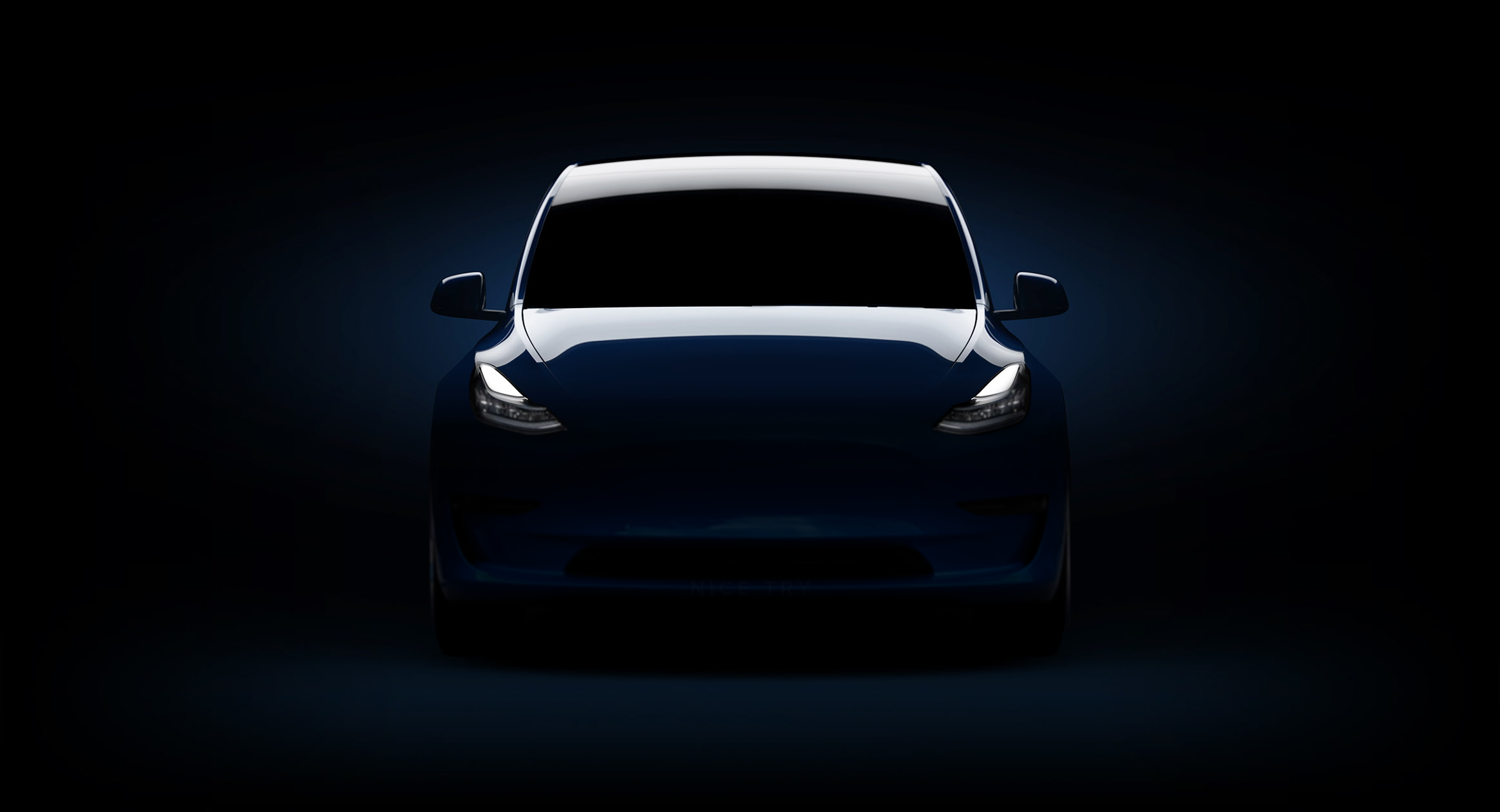 Tesla Model Y teaser image filled by enthusiast, nice try!