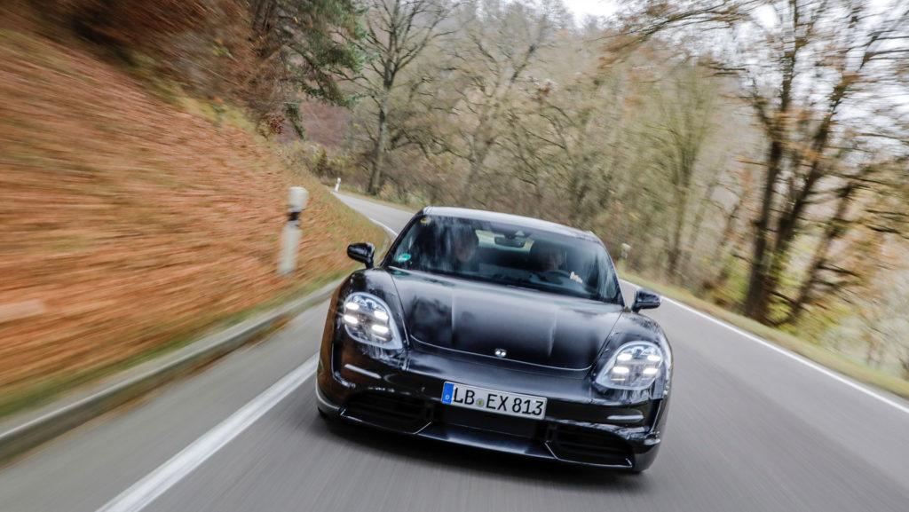 Porsche Taycan prototype - front view
