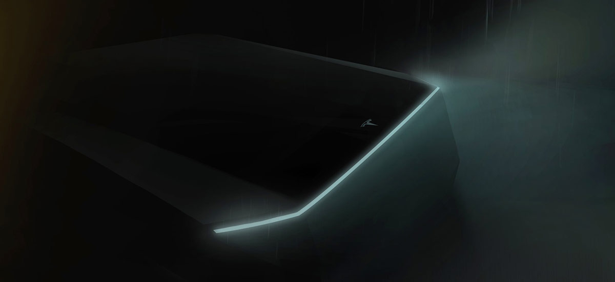New teaser image of the Tesla Pickup truck