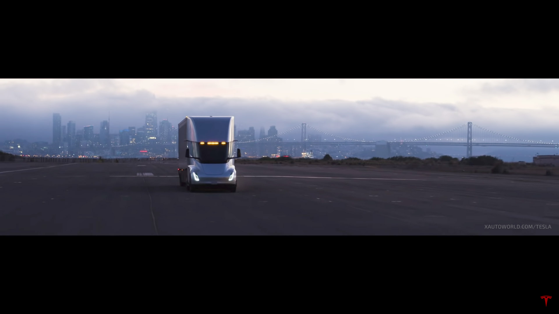 Tesla Semi truck teaser image from the Model Y unveil event