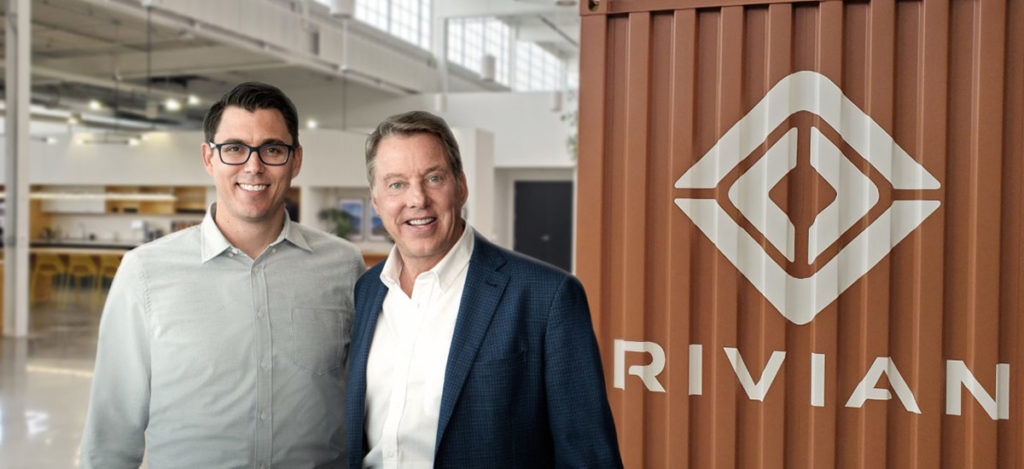 Rivian CEO RJ Scaringe and Ford Executive Chairman Bill Ford announce a $500 million Ford investment in electric vehicle startup Rivian Automotive.