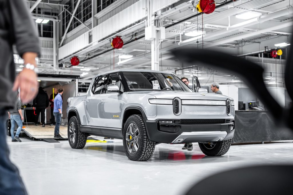 Rivian R1T Pickup Truck leaving for NYC