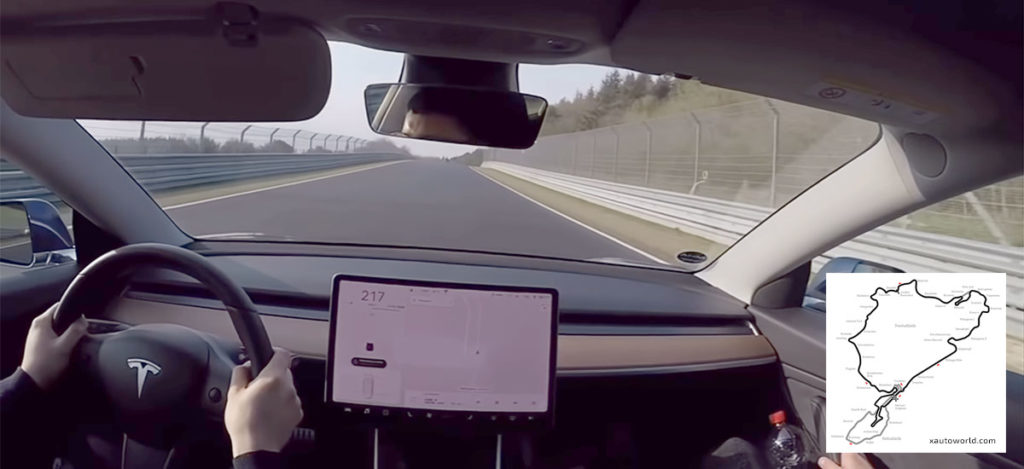 Tesla Model 3 Performance at the Nürburgring race track