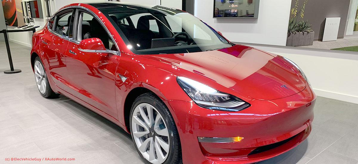 Tesla Model 3 price comparison chart - 2019 - X Auto