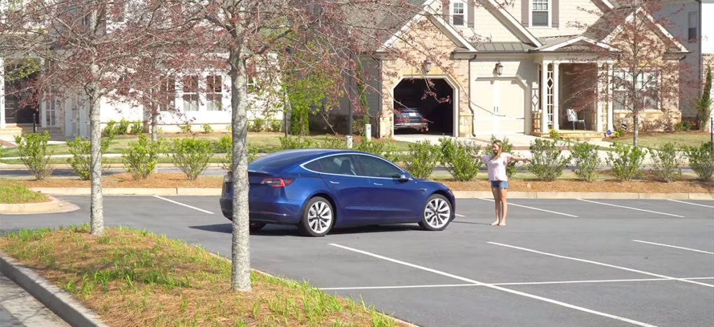 Testing 'Enhanced Summon' on a Tesla Model 3