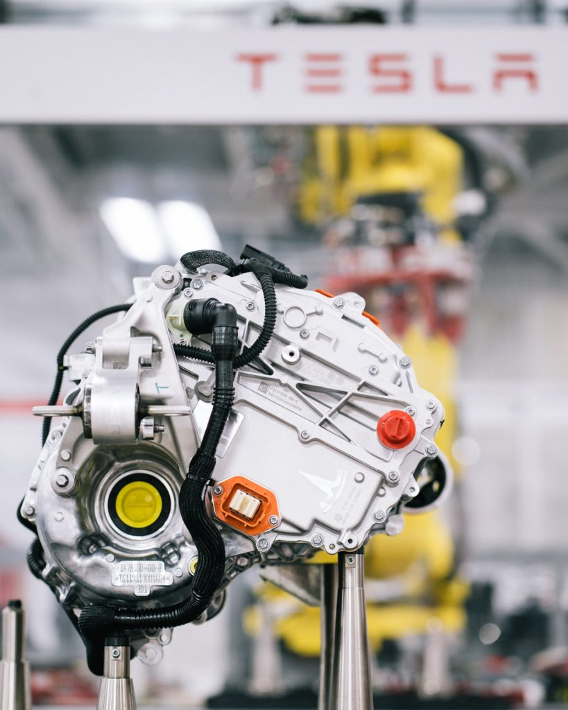Newly upgraded Tesla Model S/X Drive Unit at Gigafactory 1