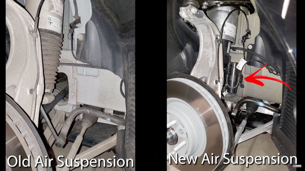 Difference in Old and New Tesla Model S Air Suspension Components