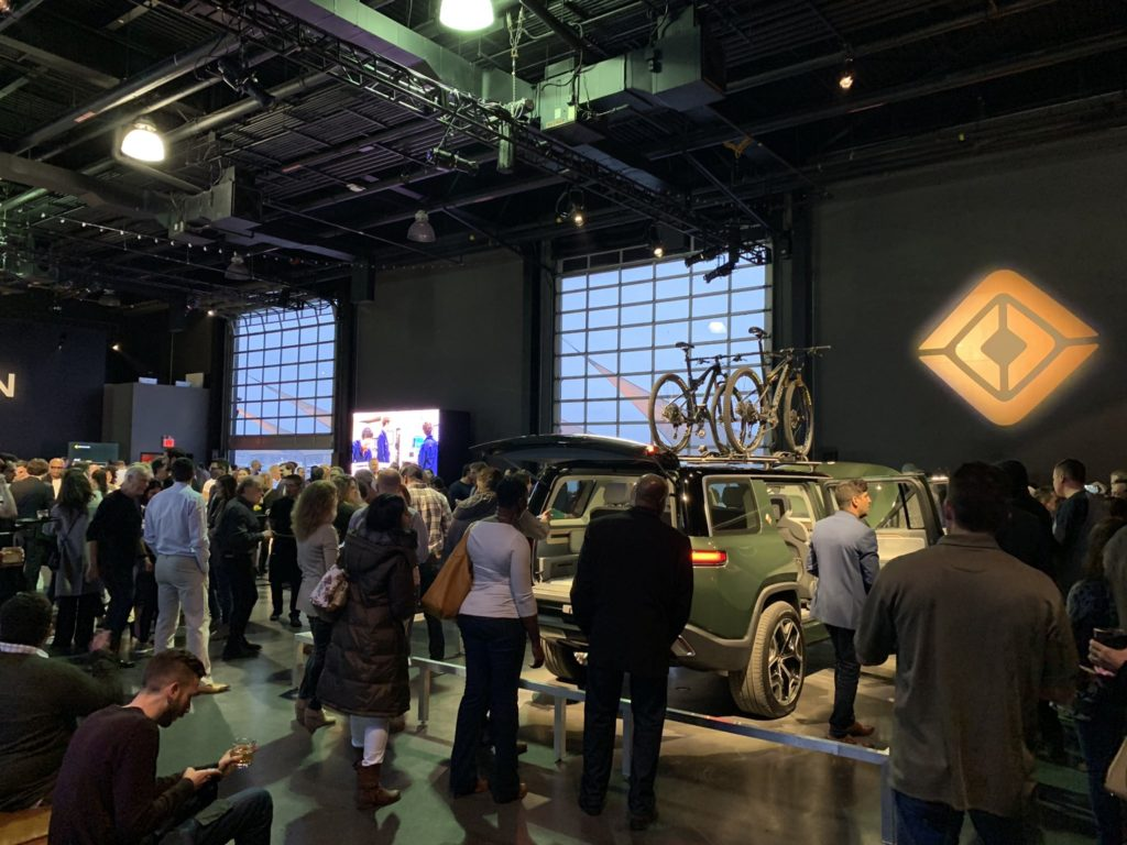 Rivian R1S SUV at the Classic Car Cub Manhattan, showcased for the reservation holders community.