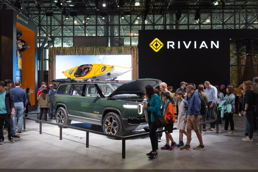 Rivian R1S SUV prototype at the New York Auto Show.
