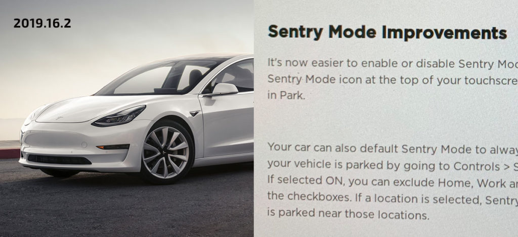 Tesla Sentry Mode Improvements Details (2019.16.2)