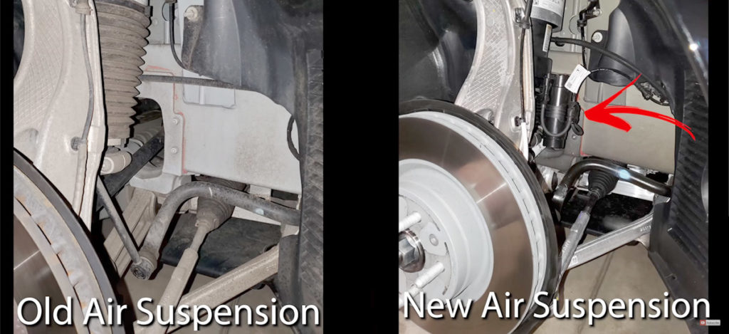 Tesla Model S New Air Suspensions vs. Old Air Suspension