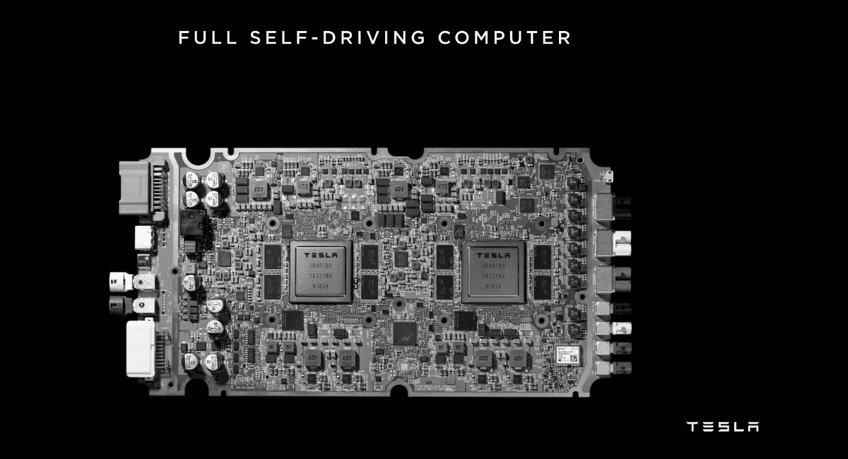 Tesla Full Self-Driving computer unveiled at the Tesla Autonomy Day.