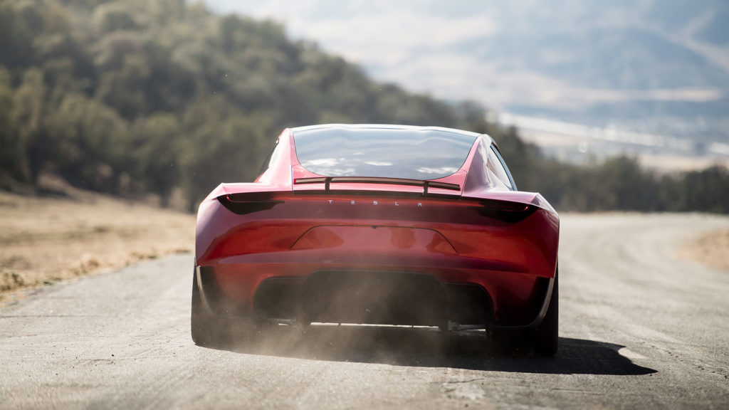 Next-generation Tesla Roadster - Rear Profile